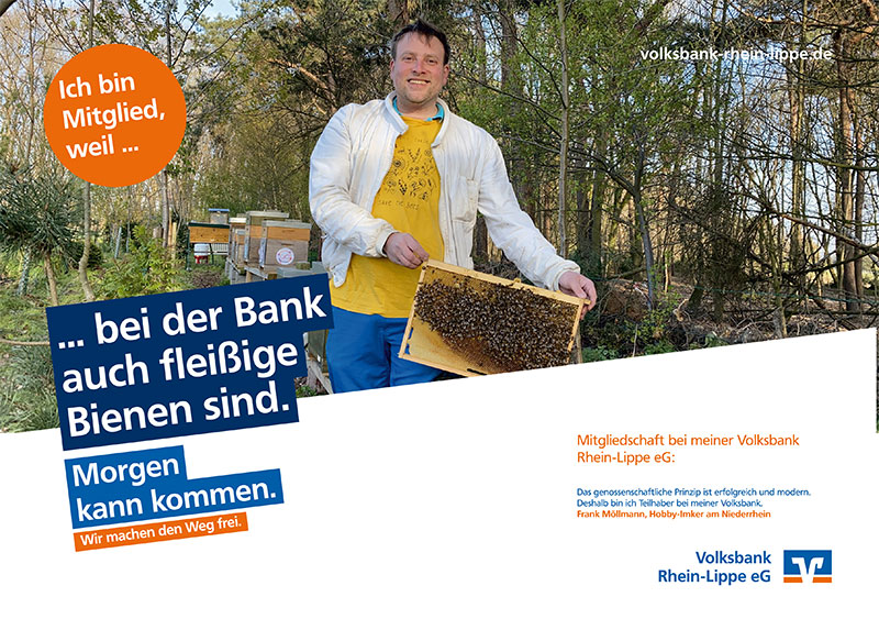 Frank Möllmann, Hobby-Imker am Niederrhein